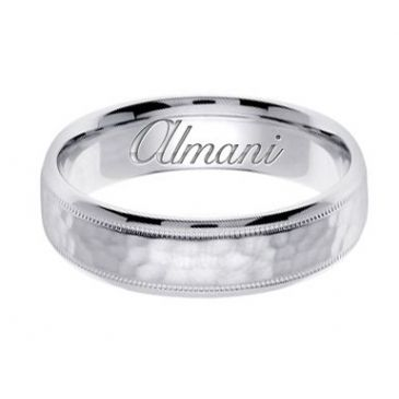 18k Gold 6mm Handmade Wedding Ring 137 Almani