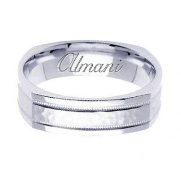 18k Gold 6mm Handmade Wedding Ring 140 Almani