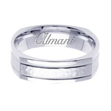 950 Platinum 6mm Handmade Wedding Ring 140 Almani