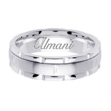 14K Gold 6mm Handmade Wedding Ring 141 Almani