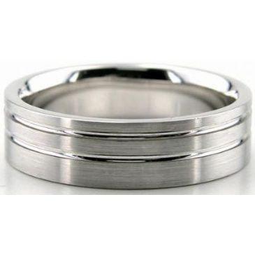 Platinum 950 6mm Diamond Cut Wedding Band 642