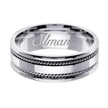18k Gold 7mm Handmade Wedding Ring 147 Almani