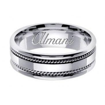 950 Platinum 7mm Handmade Wedding Ring 147 Almani