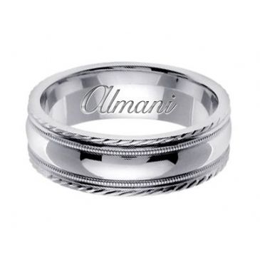 18k Gold 7mm Handmade Wedding Ring 148 Almani
