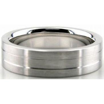 Platinum 950 6mm Diamond Cut Wedding Band 638