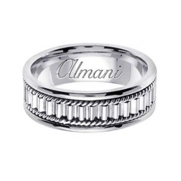 14K Gold 7mm Handmade Wedding Ring 151 Almani