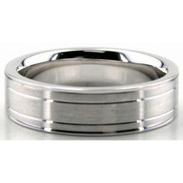 Platinum 950 6mm Diamond Cut Wedding Band 639