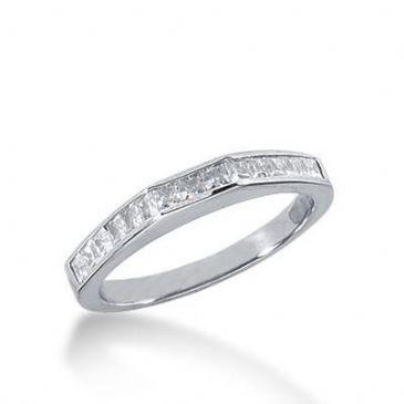 18K Gold Diamond Anniversary Wedding Ring 15 Princess Cut Diamonds 0.52ctw 229WR104718K