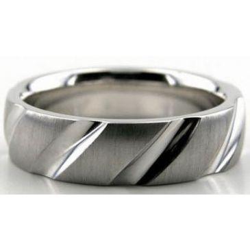 Platinum 950 6mm Diamond Cut Wedding Band 616