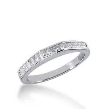 950 Platinum Diamond Anniversary Wedding Ring 15 Princess Cut Diamonds 0.52ctw 229WR1047PLT