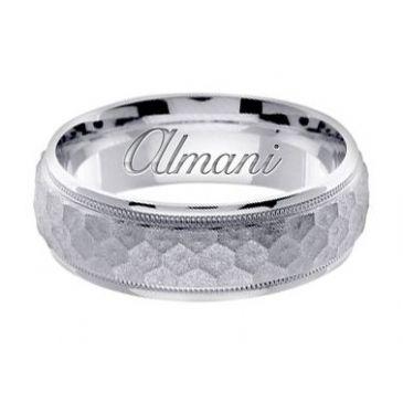 18k Gold 7mm Handmade Wedding Ring 157 Almani