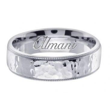 14K Gold 7mm Handmade Wedding Ring 158 almani