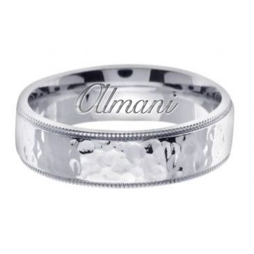 950 Platinum 7mm Handmade Wedding Ring 158 Almani