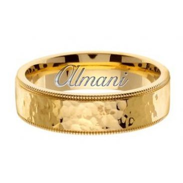 14K Gold 7mm Handmade Wedding Ring 159 Almani
