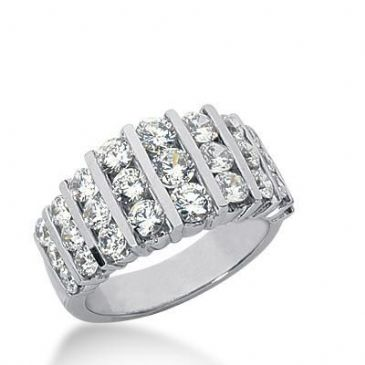 950 Platinum Diamond Anniversary Wedding Ring 27 Round Brilliant Diamonds 2.19ctw 232WR1053PLT