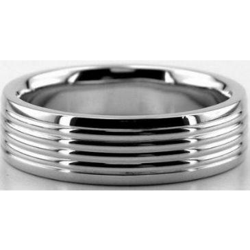 Platinum 950 6mm Diamond Cut Wedding Band 673