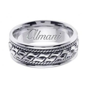 18k Gold 8mm Handmade Wedding Ring 169 Almani