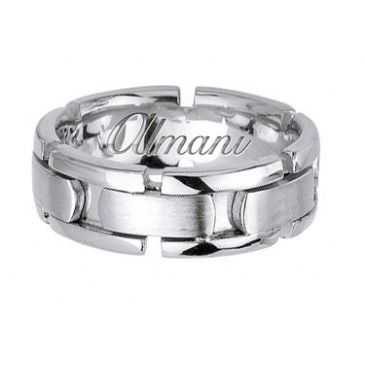 14K Gold 8mm Handmade Wedding Ring 172 Almani