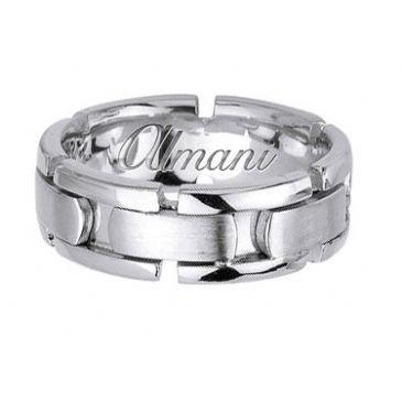 950 Platinum 8mm Handmade Wedding Ring 172 Almani