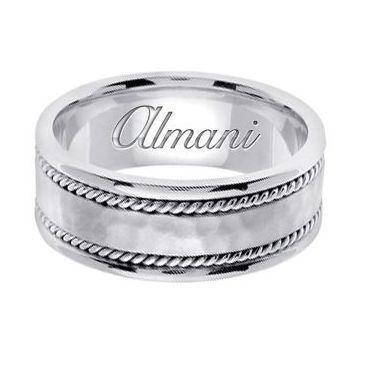 18k Gold 8mm Handmade Wedding Ring 175 Almani