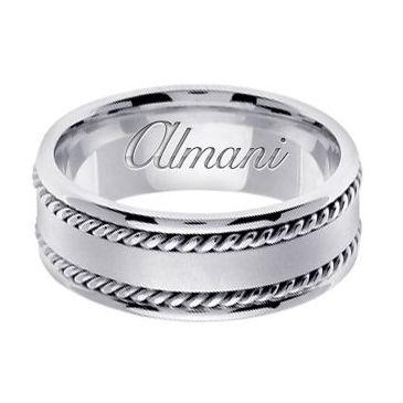 18k Gold 8mm Handmade Wedding Ring 179 Almani