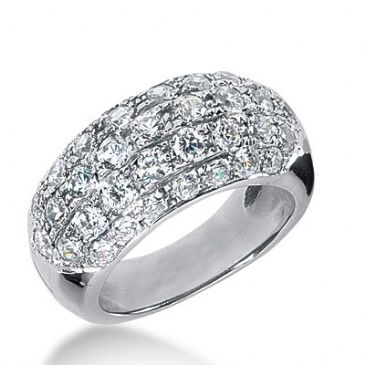 18k Gold Diamond Anniversary Wedding Ring 39 Round Brilliant Diamonds 2.13ctw 264WR112518K