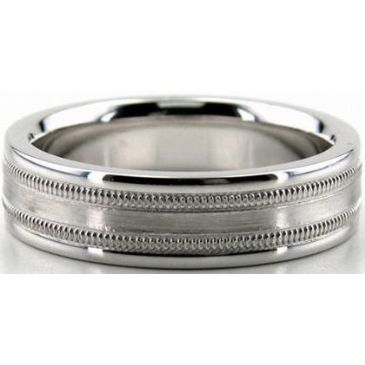 Platinum 950 6mm Diamond Cut Wedding Band 679