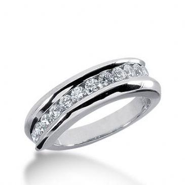 950 Platinum Diamond Anniversary Wedding Ring 12 Round Brilliant Diamonds 0.60ctw 268WR1131PLT