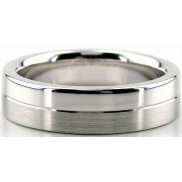 Platinum 950 6mm Diamond Cut Wedding Band 676