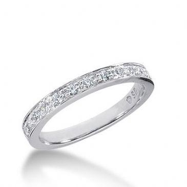 950 Platinum Diamond Anniversary Wedding Ring 13 Round Brilliant Diamonds 0.33ctw 280WR1233PLT