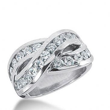 950 Platinum Diamond Anniversary Wedding Ring 24 Round Brilliant Diamonds 1.92ctw 281WR1315PLT