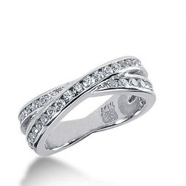 18k Gold Diamond Anniversary Wedding Ring 40 Round Brilliant Diamonds 1.00ctw 282WR131918K