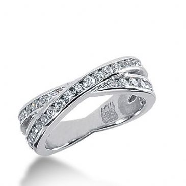 950 Platinum Diamond Anniversary Wedding Ring 40 Round Brilliant Diamonds 1.00ctw 282WR1319PLT