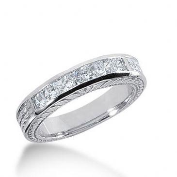 950 Platinum Diamond Anniversary Wedding Ring 7 Princess Cut Diamonds 0.70ctw 283WR1327PLT