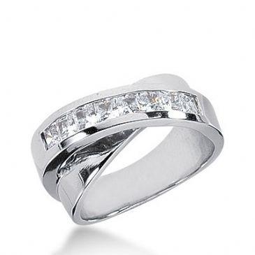 950 Platinum Diamond Anniversary Wedding Ring 7 Princess Cut Diamonds 0.70ctw 289WR1334PLT