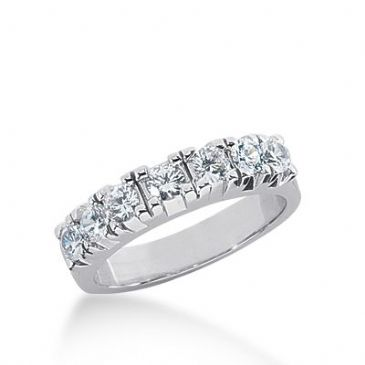 950 Platinum Diamond Anniversary Wedding Ring 7 Round Brilliant Diamonds 0.84ctw 303WR1350PLT