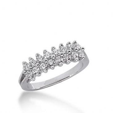 18k Gold Diamond Anniversary Wedding Ring 16 Round Brilliant Diamonds 0.48ctw 306WR135318K