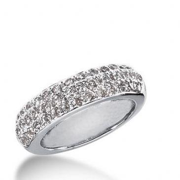 18k Gold Diamond Anniversary Wedding Ring 40 Round Brilliant Diamonds 1.07ctw 307WR135418K