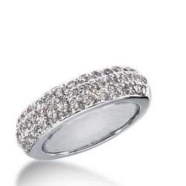 950 Platinum Diamond Anniversary Wedding Ring 40 Round Brilliant Diamonds 1.07ctw 307WR1354PLT