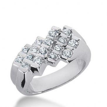 950 Platinum Diamond Anniversary Wedding Ring 16 Round Brilliant Diamonds 0.80ctw 310WR1358PLT