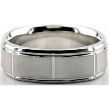Platinum 950 7mm Diamond Cut Wedding Band 603