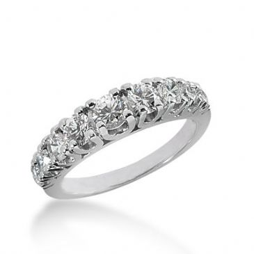 18k Gold Diamond Anniversary Wedding Ring 9 Round Brilliant Diamonds 1.25ctw 326WR143318K