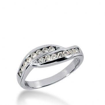 18k Gold Diamond Anniversary Wedding Ring 16 Round Brilliant Diamonds 0.32ctw 334WR147218K