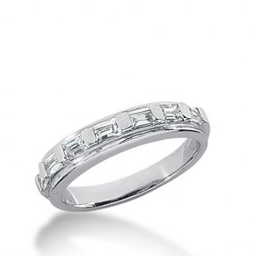 18k Gold Diamond Anniversary Wedding Ring 7 Straight Baguette Diamonds 0.56ctw 338WR148018K