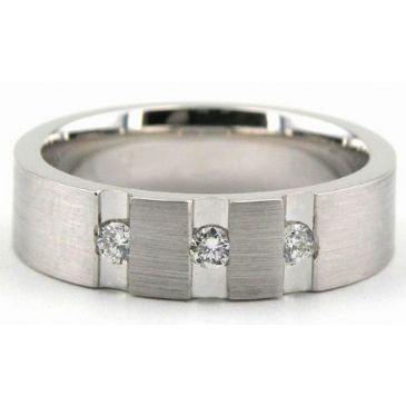 14K Gold 6mm Diamond Wedding Bands Rings 1946