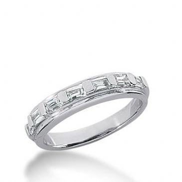 950 Platinum Diamond Anniversary Wedding Ring 7 Straight Baguette Diamonds 0.56ctw 338WR1480PLT