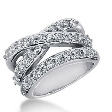 950 Platinum Diamond Anniversary Wedding Ring 36 Round Brilliant Diamonds 1.48ctw 340WR1484PLT