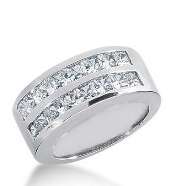 950 Platinum Diamond Anniversary Wedding Ring 16 Princess Cut Diamonds 2.24ctw 356WR1512PLT