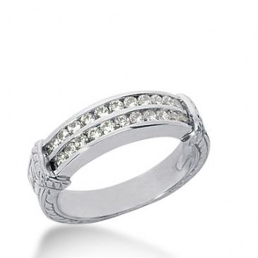 18k Gold Diamond Anniversary Wedding Ring 22 Round Brilliant Diamonds 0.66ctw 363WR152318K