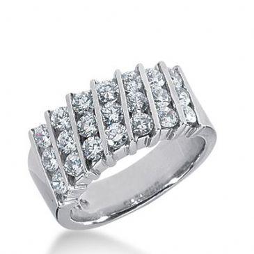 950 Platinum Diamond Anniversary Wedding Ring 21 Round Brilliant Diamonds 1.68ctw 364WR1525PLT